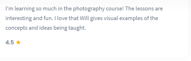 Shaw Academy Photography Review - 4.5 stars