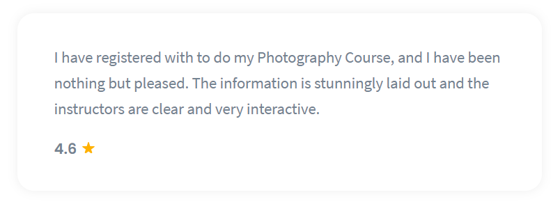 Shaw Academy Photography Reviews - 4.6 stars