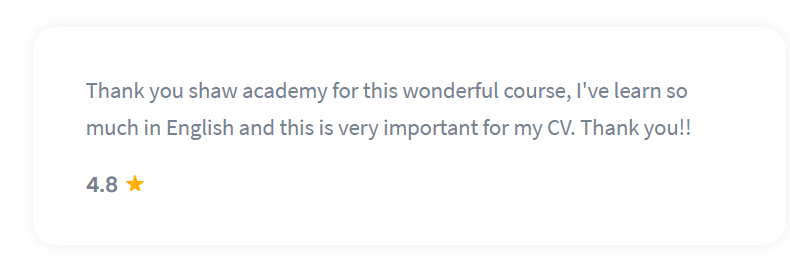 Shaw Academy Language Course Reviews - 4.8 stars